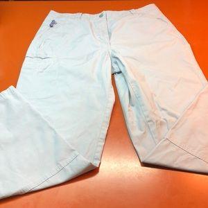 LL Bean sky blue hiking pants, size 14 tall